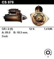 Стартер на SAAB 9000 CS 16V, 9000i 2.3, 900i 2.0, 2.1 16V, Marine 2H, 2HG, 0001108092
