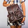 Коричневый женский рюкзак молодежный городской большой 1363 braun