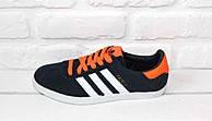 Кроссовки мужские Adidas Gazelle (Dark Blue & Orange)