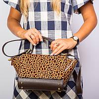 Коричневая сумочка №1349bn3 женская маленькая лак