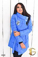 """Куртка женская зимняя больших размеров """"Сова"""""""