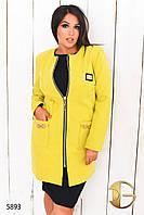 """Пальто женское из кашемира больших размеров """"Elisabetta Franchi"""""""