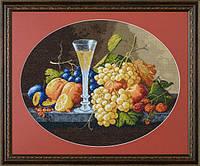 "Набор для вышивания ""Натюрморт с фруктами и вином (Still life with fruits and wine glass)"" EXPRESSIONS"