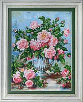 """Набор для вышивания """"Розы в серебряной вазе (Roses in silver vase)"""" EXPRESSIONS"""