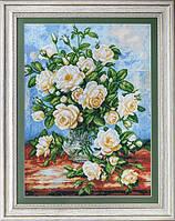 """Набор для вышивания """"Белые розы (White roses)"""" EXPRESSIONS"""