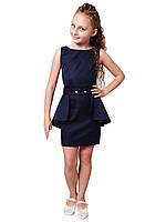 Платье   нарядное детское  мемори М -1061  рост 140 146м 152 158 164 и 170 синее, фото 1