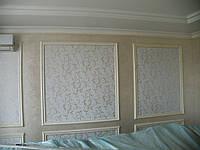 Перламутровая декоративная штукатурка с трафаретным рисунком, фото 1