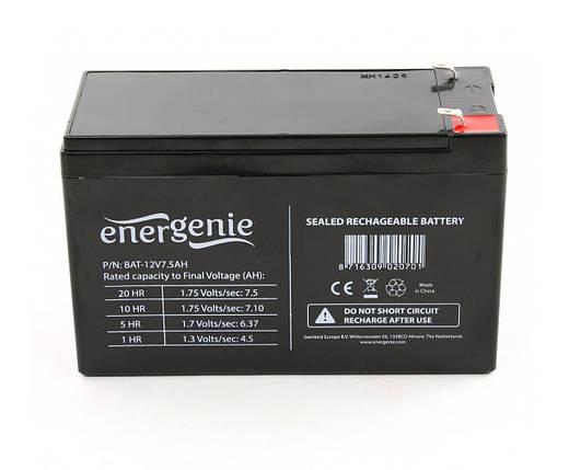 Аккумулятор EnerGenie 12V / 7Ah для детских электромобилей , фото 2