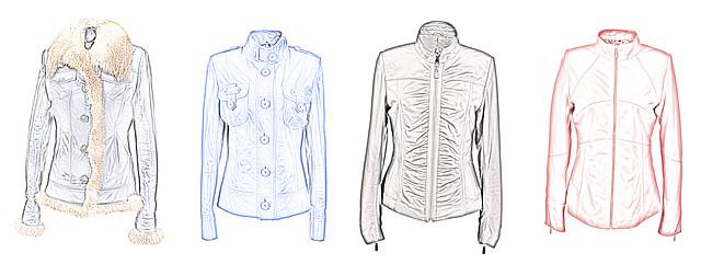 """модели кожаных курток для типа фигуры """"Песочные часы"""""""
