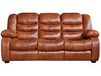 """Кожаный прямой диван """"Ashley"""" (Эшли), коричневый (195см)"""