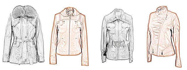 модели кожаных курток для типа фигуры груша