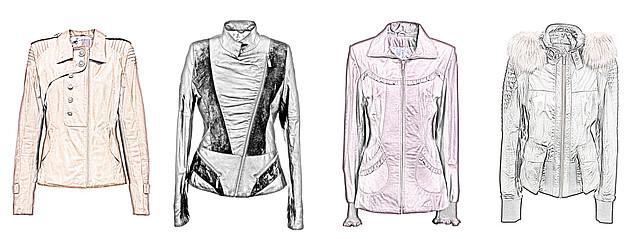 """модели кожаных курток для типа фигуры """"Прямоугольник"""""""