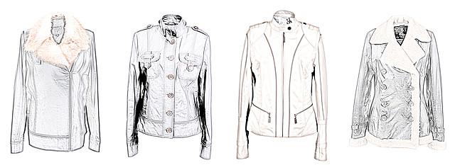 """модели кожаных курток для типа фигуры """"Яблоко"""""""