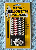"""Свечи в торт """"Магические"""", 10 шт. с подставкой, 6 см"""