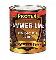 Эмаль с эффектом ковки Hammer Line коричневая (0,75кг)