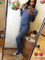 Женский спортивный костюм ткань вязаный трикотаж