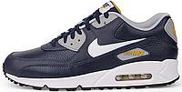 Мужские кроссовки Nike Air Max 90 Premium (найк аир макс) синие