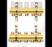 Коллекторный блок с термоклапаном и креплением - 7 выходов APC