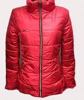 Женская демисезонная куртка со съемным капюшоном  №3360