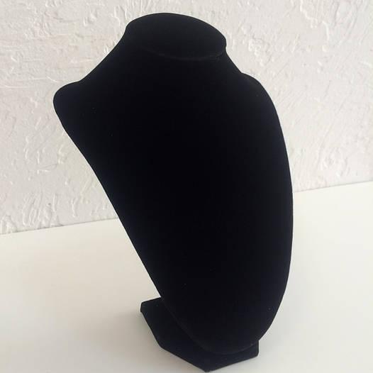 Демонстрационная шея для цепочек 74501, черный бархат, размер  25*17 см