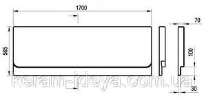 Панель для ванны Ravak Chrome 170 CZ74100A00, фото 2