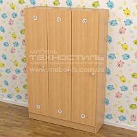 Шкафы детские для раздевалки (3 секции) - 1