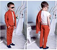 """Костюм """"Лен"""" брюки + пиджак на рост от 98 до 134 см"""
