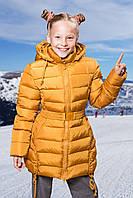 Полу-пальто FREEVER для девочки горчица  8652