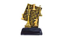 Статуэтка (фигурка) наградная спортивная Шахматы Шахматная доска C-1627-B (р-р 9,5х4,5х13см)