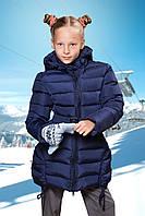 Полу-пальто FREEVER для девочки т. синее 8652