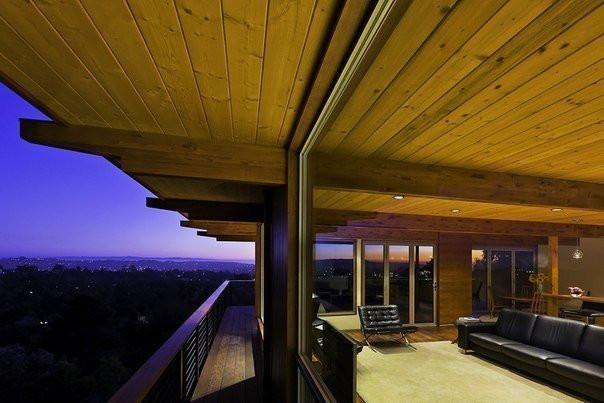 Сочетания дерева и стекла в современной архитектуре...