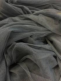 Фатин, колір темно-сірий
