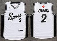 Мужская баскетбольная майка Christmas Day San Antonio Spurs (Kawhi Leonard) White