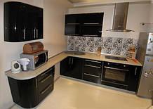 Стильна кутова кухня з МДФ, кухонні меблі під замовлення