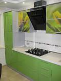 Стильная угловая кухня из МДФ, кухонная мебель под заказ, фото 2