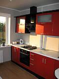 Стильная угловая кухня из МДФ, кухонная мебель под заказ, фото 3