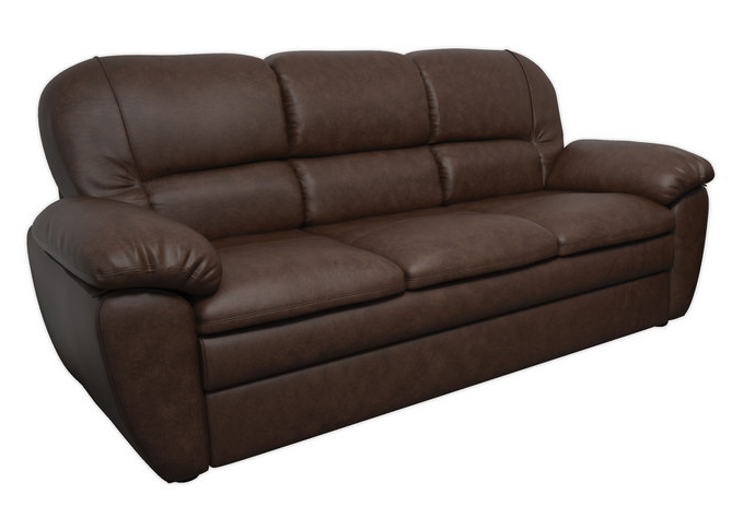 """Прямий розкладний диван у шкірі """"Сідней"""" (220см)"""