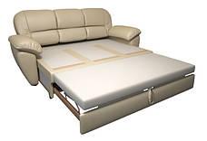 """Прямий розкладний диван у шкірі """"Сідней"""" (220см), фото 3"""