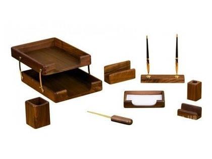 Подарочный набор настольный из дерева BESTAR 8280WDN орех (8 предметов), фото 2