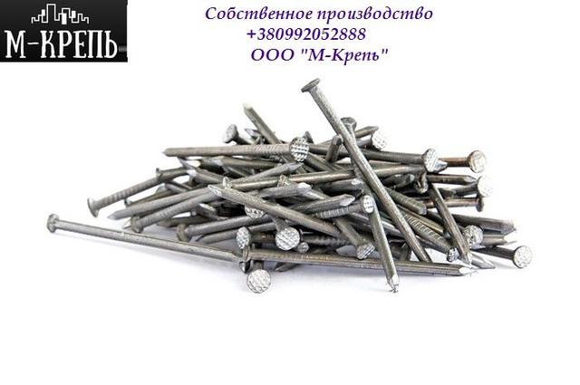 Гвозди строительные с конической (потайной) рифленой головкой ГОСТ 4028-63