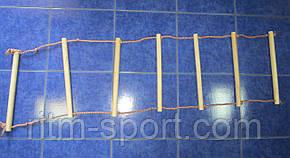 Драбина мотузкова навісна 7 ступенів, 160 см, фото 2