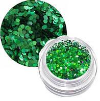 Сухой блеск мелкие блестки (зеленый) Lady Victory LDV BDJ-01 /31-0