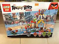 """Детский конструктор Lepin Angry Birds 19004 """"Разгром Свинограда"""" 386 деталей"""