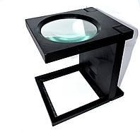 14-0158. Лупа MG14116-A настольнаяя складная с подсветкой, ув.2,5х