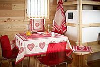 Galtex  Monte  Bondone  итальянский текстиль для кухни (набор) скатерть 140х180 см, салфетка, штора, подушечка