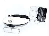 14-0214. Лупа бинокулярная MG81001-G с Led подсветкой, 1,0Х 1,5Х 2,0X 2,5Х 3,5Х