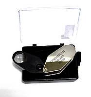 14-0353. Лупа ювелирная MG21002 с Led подсветкой, 10Х, диам-21мм