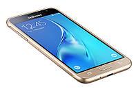 Смартфон Samsung Galaxy J3 (2016) J320H/DS Gold, 2 MicroSim, сенсорный емкостный 5' (1280х720) Super AMOLED, Cortex-A7 Quad Core 1.3 GHz, RAM 1.5Gb,