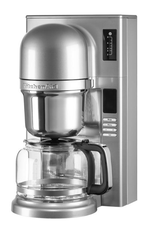 Кофеварка KitchenAid 5KCM0802ECU, заливного типа пуровер, графин 1.18л, серебристая