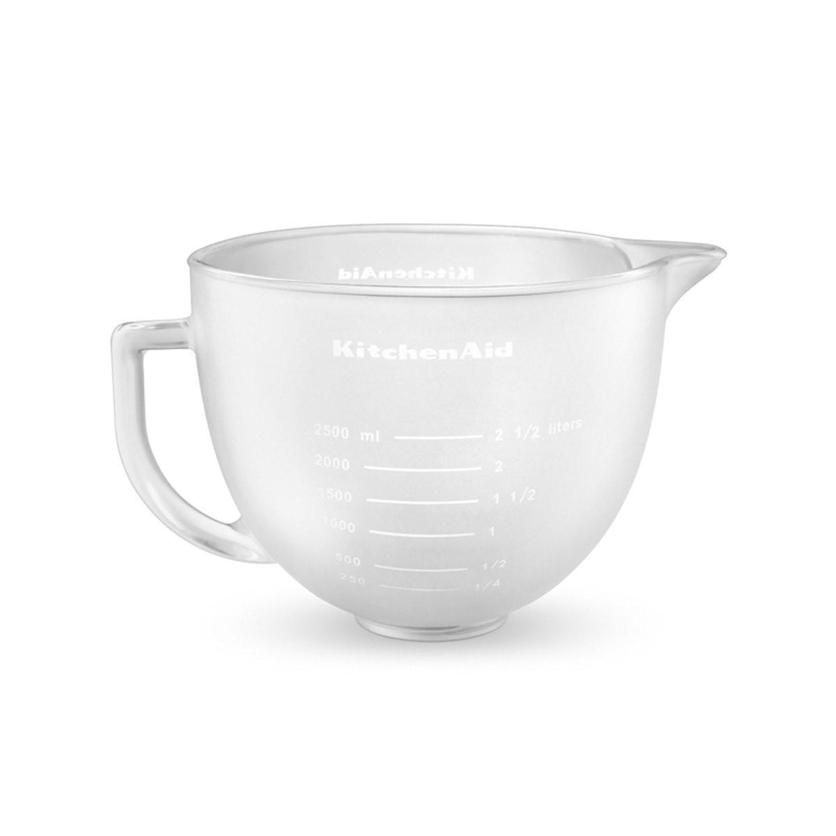 Дежа стеклянная KitchenAid 5K5FGB , матовая, 4.83л